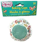 Spring Fling! Festive Cupcake Baking Cups ~ 100 Count (Flowers And Butterflies)
