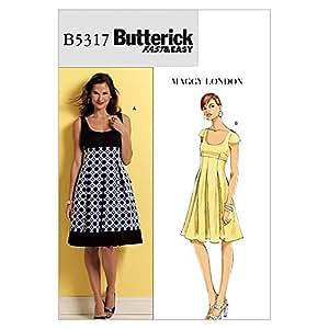 Butterick Patterns 5317Patron de Couture Robe Tailles: 8–10–12–14