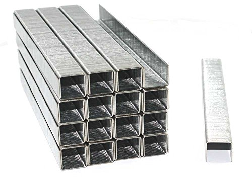 5000 Tackerklammern - Typ 53 - Länge: 14 mm, Breite: 11,4 mm - Maße 14/11,4 - verzinkt / Heftklammern / Tacker-Klammern