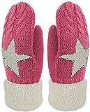 Kinder Handschuhe Fäustlinge mit Stern und Glitzer Strick Handschuhe gefüttert Color Pink