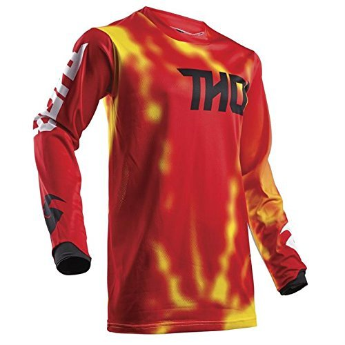 THOR PULSE AIR YOUTH Motocross Kinder Jersey 2018 - rot -
