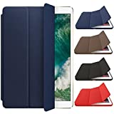 #9: Mcart's Smart Trifold Hard Back Flip Stand Case Cover for New iPad 9.7 inch 2018/2017 5th 6th Generation Model A1822 A1823 A1893 A1954 (Midnight Blue)
