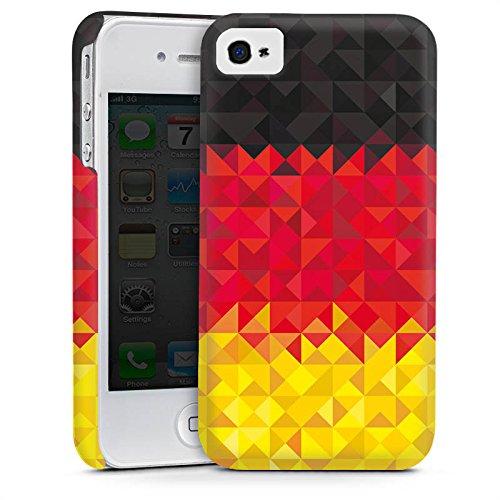 Apple iPhone 4 Housse Étui Silicone Coque Protection Allemagne Allemagne Drapeau Cas Premium mat