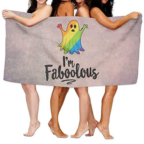 Laohujia Beach Pool Custom Bath Towel Soft I'm Faboolous Halloween Super Absorbent Microfiber