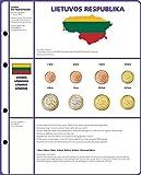 Lindner 8450-22 Vordruckblatt EURO COLLECTION: 3 Kursmünzensätze Litauen