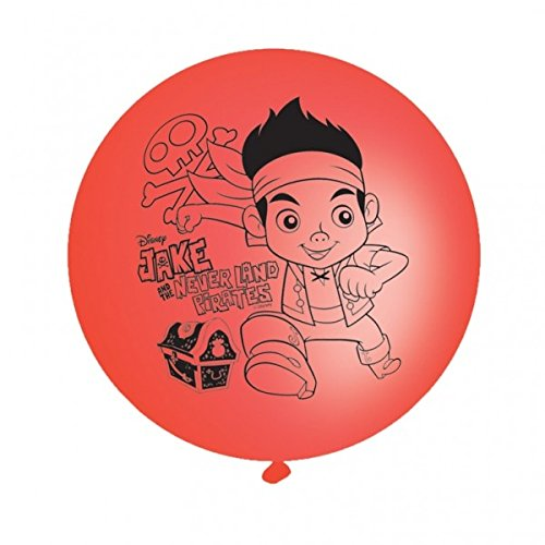 Jake & the Neverland Pirates Punch Ball Party Balloons 4pk