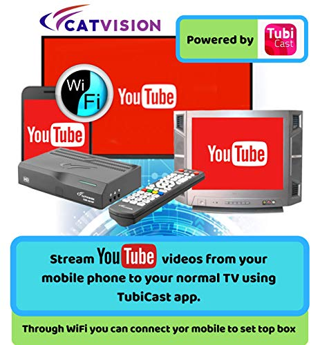 Catvision Advanced Set Top Box with Mobile Cast to Television   HDMI Connectivity   2 Years Warranty  