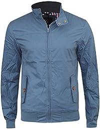 Crosshatch Mens New Designer Harrington Haronz Jacket Night Sky