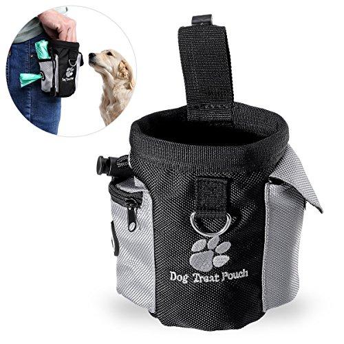 Foto de Perro Tratar Cintura Bolsa Bolso Manos Gratis Mascota Perro Formación Cintura Bolso Comida Bolso con Incorporado Mierda Bolso Dispensador