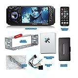 XOMAX XM-VRSU4309BT Autoradio mit Bluetooth Freisprechfunktion + 11 cm/ 4,3 Zoll Touchscreen Display + USB Anschluss + SD Kartenslot + AUX IN + Singel DIn / 1 DIN Standard Einbaugröße inkl. Fernbedienung, Einbaurahmen - 5