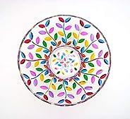 Centrotavola Laurus 305 in Vetro Cristallino dipinto a Mano Multicolore Mix Murano Style Venezia