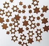 Stern, Sterne aus FILZ. Streudeko. 5 gr. ca. 30-45 Teile. Ca. 2-4 cm. In COGNAC cg