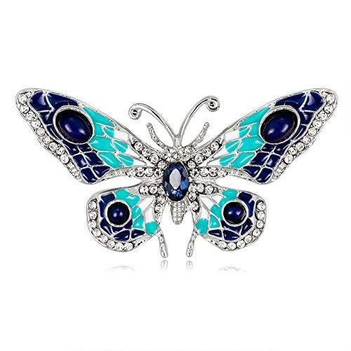 Nikgic Frauen Brosche Pins Schmetterling Blau Damen Accessoires 10g 1 Stück
