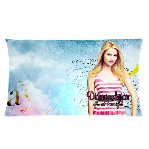 Stylish Design Sexy Model and Singer Dianna Agron Beautiful Pictures personalized pillowcase hotsale for Children 20x36 Two sides-5
