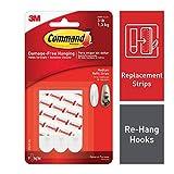 Command - Tiras adhesivas para ganchos de colgar (1 paquetes de 9 tiras cada uno)