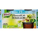 Knorr Marmite De Bouillon Légumes Réduit En Sel 6 Capsules 144g - Lot de 4