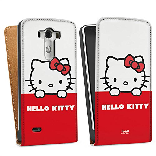 LG G3 Tasche Hülle Flip Case Hello Kitty Merchandise Fanartikel Cute Kawaii (Hello Kitty Cases Für Lg G3)