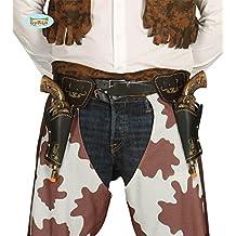 Double holster de cowboy avec pistolets 29 cm et ceinture adulte