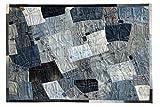 Sit Möbel 1008-13 Teppich This und That, 170 x 240 cm, Jeansflicken, 100% Baumwolle, Dessin Denim blau