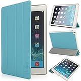 iHarbort® iPad Air 2 Hülle - Ultra Slim Leder Tasche Hülle Etui Schutzhülle Ständer Smart Cover Case für iPad 6 Generation , mit Schlaf / Wach-up-Funktion (iPad Air 2, hellblau)