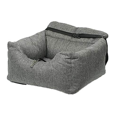 AM-pet kennel Cómodo Interior Auto Gris Caseta Perro