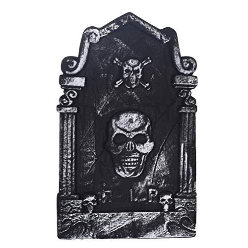 Amosfun Halloween Grabsteine ??Dekoration Schaum RIP Friedhof Grabsteine ??Halloween Skeleton Dekorationen Halloween Party Supplies (Halloween-friedhof Hof Dekorationen)