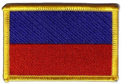 Flaggen Aufnäher Haiti ohne Wappen Fahne Patch + gratis Aufkleber, Flaggenfritze® (Patch Haiti Fahne)