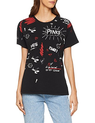 Pinko Carmine T-Shirt Jersey di COTO, Donna, (Nero...