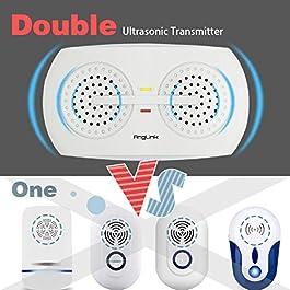 ✔ [AngLink®] – Ultrasuoni Per Topi Repellente Ultrasuoni | 2 Pezzi | Ultima Versione – Un anno di Garanzia