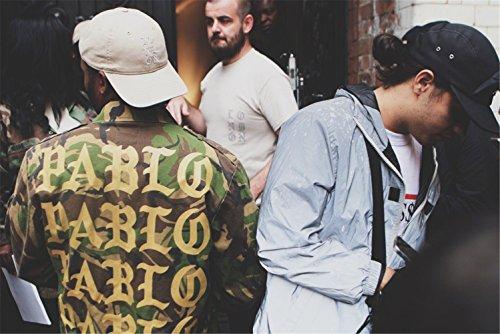 CRAVOG 2016 herbst Winter Yeezy Saison 3 Kanye West Pablo Camouflage Männer Jacke Mantel Armee Grün Hiphop Paul Streetwear Militärjacke Rot