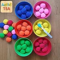 Clasificar pompones por colores