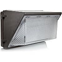 Hyperikon LED Lámpara de Pared - Impermeable - 90W - Blanco Frio (5000K) - Cubierta Clara -Luz de Seguridad - Iluminación Exterior para Patio, Terraza, Camino, Sótano, Garaje