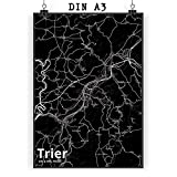 Mr. & Mrs. Panda Poster DIN A3 Stadt Trier Stadt Black -