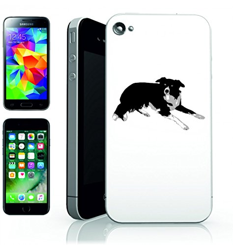 Smartphone Case animale di Border Collie Cane Animale Domestico per Apple Iphone 4/4S, 5/5S, 5 C, 6/6S, 7 & Samsung Galaxy S4, S5, S6, S6 Edge, S7, S7 Edge Huawei HTC – Divertimento Motiv di culto I