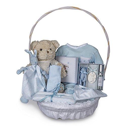 Canastilla bebé Vintage Plena-cesta regalo recién nacido-Canastilla bebé en cesta Vintage Plena - cesta regalo recién nacido - Delicada canastilla con accesorios para su habitación y moda