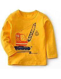 Niños Manga Larga Camiseta Sudaderas Pull-over Algodón Top Blusas Pijama 1-6 Años