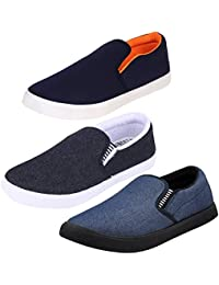 Bersache Men's Canvas Loafers/Moccasins Shoes