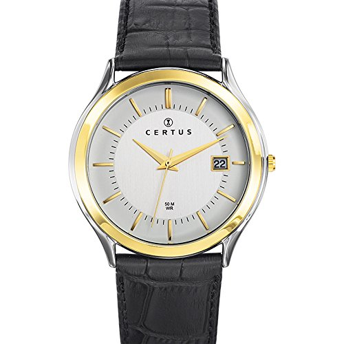 Certus Men's Quartz Watch Analogue Display and Leather Strap 611293