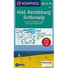 Kiel, Rendsburg, Schleswig: 4in1 Wanderkarte 1:50000 mit Aktiv Guide und Detailkarten inklusive Karte zur offline Verwendung in der KOMPASS-App. Fahrradfahren. Reiten. (KOMPASS-Wanderkarten, Band 714)