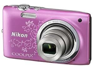 """Nikon Coolpix S2700 Appareil photo numérique compact 16 Mpix Ecran 2,7"""" Zoom optique 6x Rose Lineart"""