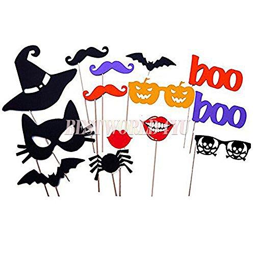 t Fotografie Requisiten auf A Stick Schnurrbart Photo Booth/Halloween Fledermaus Totenkopf/Weihnachtsgeweih Schnurrbart/Geburtstag Party Fun (Beste Halloween Requisiten)