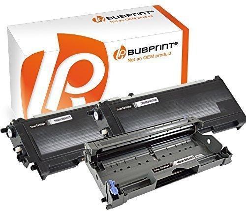 Bubprint 2 Toner & Trommel kompatibel für Brother TN2000 DR2000 für DCP-7010 DCP-7020 Fax 2820 2920 HL-2030 HL-2032 HL-2040 HL-2070N MFC-7420 MFC-7820 - Kostengünstige Einweg