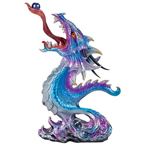 Design Toscano Statue Drachen-Dekofigur 'Wilde Hydra' im Gothic-Stil, Resin, Vollfarbe 6.5 x 11 x 16 cm - Hydra Perlen