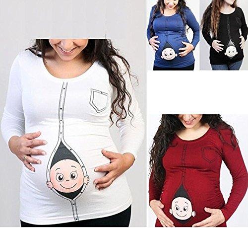 T-shirt drôle de maternité, humour Mignon bébé furtivement T-shirt à manches longues de femmes enceintes