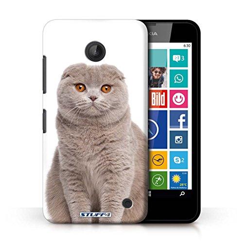 Kobalt® Imprimé Etui / Coque pour Nokia Lumia 635 / Peterbald conception / Série Espèces de chats Scottish Fold