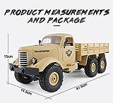 JJRC Q60 six-drive militärische karte bis militärkarte fernbedienung auto klettern RC 1:16 2,4G 6WD crawler geländewagen militär RTR spielzeug, marke spielzeug offizielle autorisierung (YELLOW)