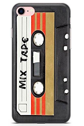 iPhone 8 Mix Tape Retro Funda de Teléfono de Goma Cover Inconformista Casete Remix Punk Vendimia