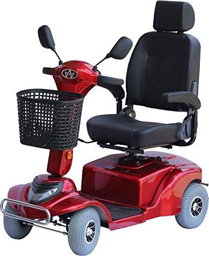 """Alpenmobil """" Mobi City 80"""" rot - altersgerechtes Behindertenfahrzeug / Invalidenfahrzeug für Senioren oder Personen mit Gehbehinderung"""
