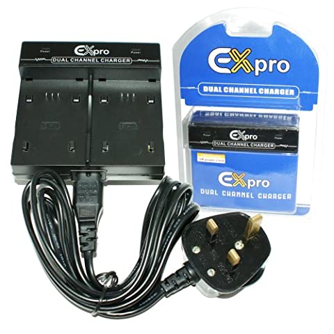 Ex-Pro® Canon NB-5L NB5L - Dual (Twin) Battery Fast Charge Digital Camera Charger for Canon Digital IXUS 90 IS, Digital IXUS 800 IS, IXUS 810 IS, IXUS 850 IS, IXUS 860 IS, IXUS 870 IS, IXUS 900 IS, IXUS 900 Ti, IXUS 910 IS, IXUS 950 IS, IXUS 960 IS, IXUS 970 IS, IXUS 980 IS, IXUS 990 IS, IXY 800 IS, IXY 810 IS, IXY 820 IS, IXY 900 IS, IXY 910 IS, IXY 920 IS, IXY 1000, S100, PowerShot S100, S110, SD700 IS, SD790 IS, SD800 IS, SD850 IS, SD870 IS, SD880 IS, SD890 IS, SD900, SD950 IS,