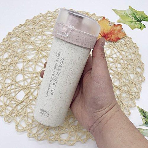 Damlonby Sports d'eau petite coupe coupe facilement des élèves, garçons et filles, des verres en plastique portable simple édition sport rose 400ml